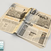 newspaper Gazzetta dello sport 1 3d model