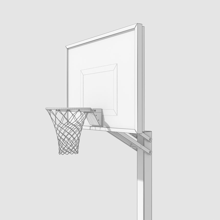 Basketball Hoop royalty-free 3d model - Preview no. 9