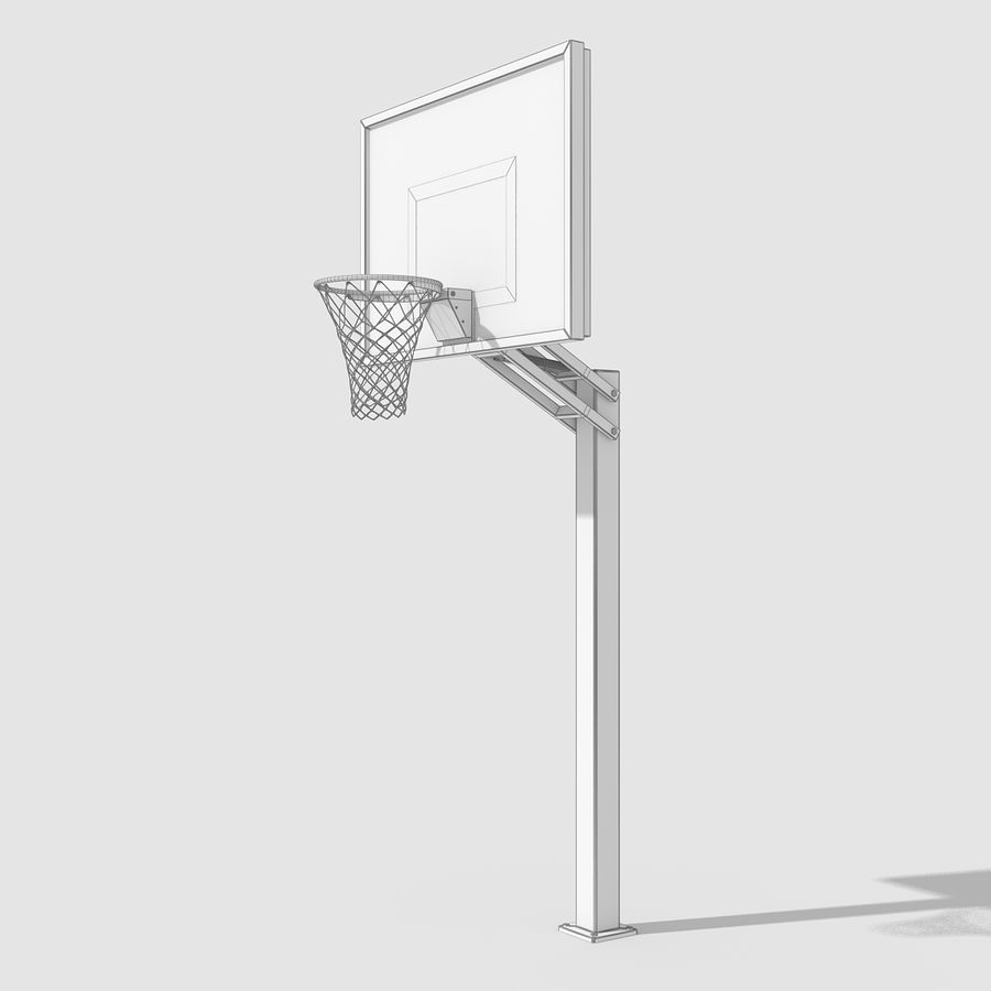 Basketball Hoop royalty-free 3d model - Preview no. 11