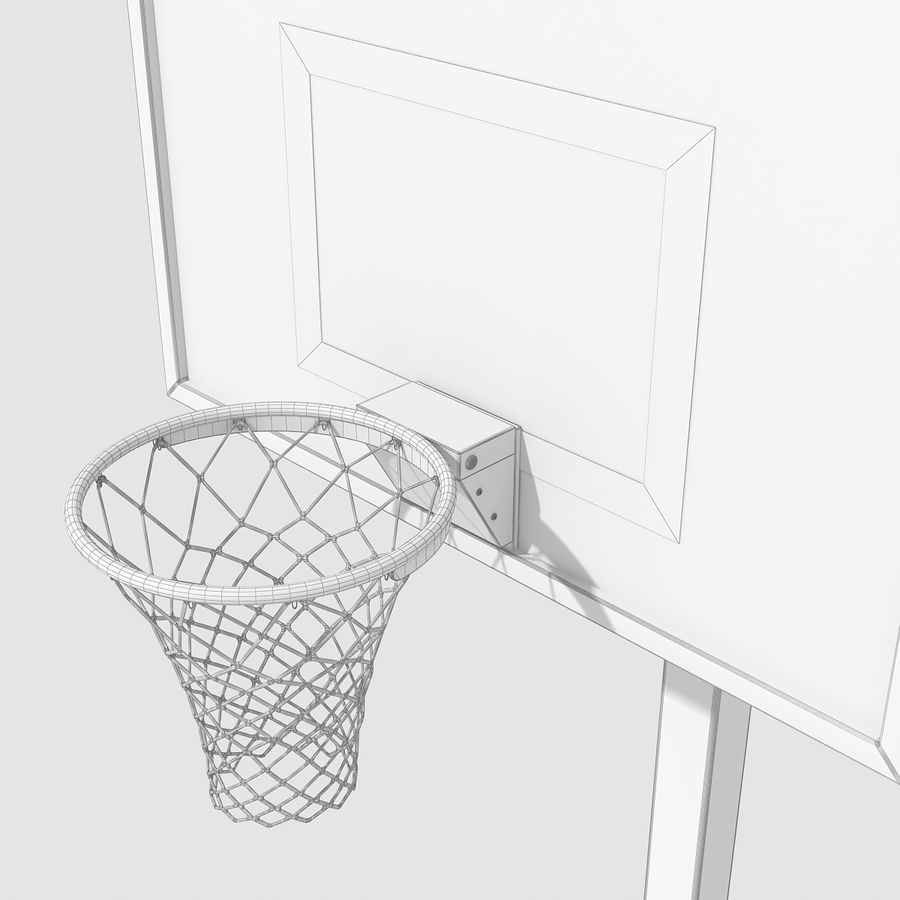 Basketball Hoop royalty-free 3d model - Preview no. 8