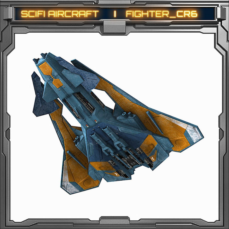 SciFi_CR6 royalty-free 3d model - Preview no. 4