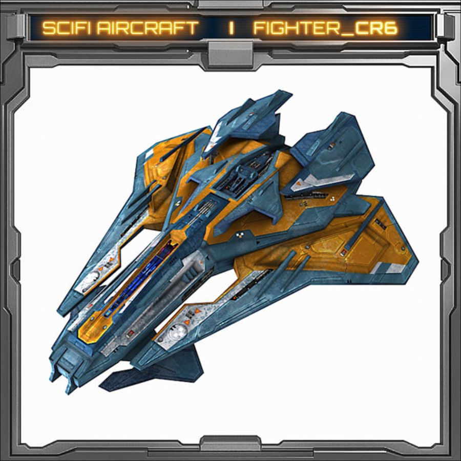 SciFi_CR6 royalty-free 3d model - Preview no. 1