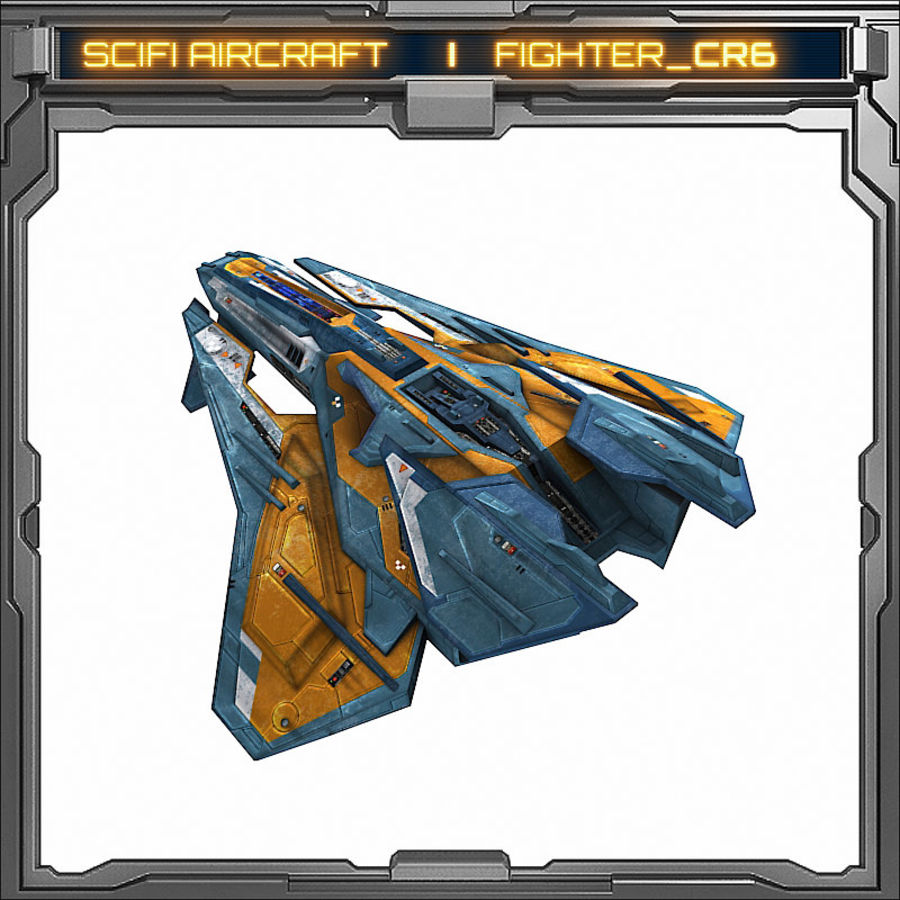 SciFi_CR6 royalty-free 3d model - Preview no. 5