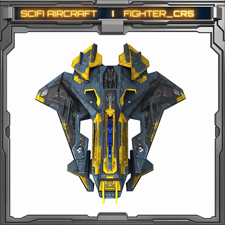 SciFi_CR5 royalty-free 3d model - Preview no. 3
