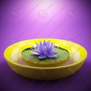 fiore di loto 3d model