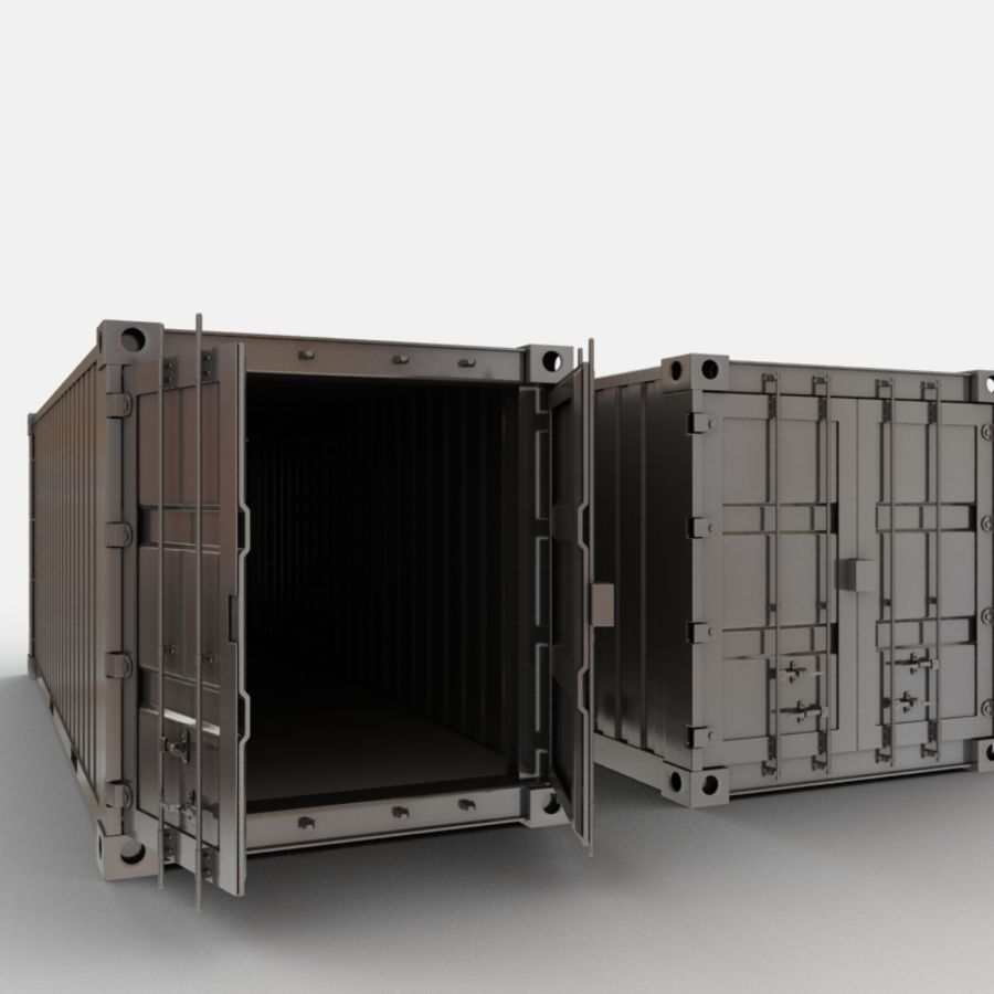Shipping Container royalty-free 3d model - Preview no. 3
