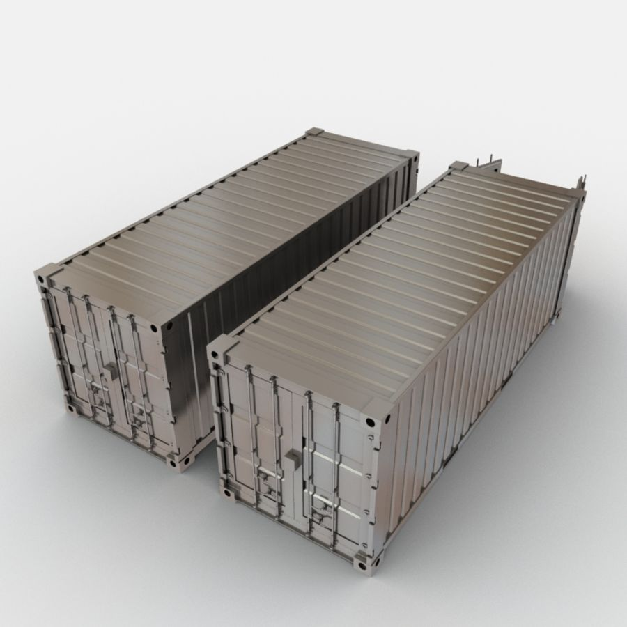 Shipping Container royalty-free 3d model - Preview no. 6
