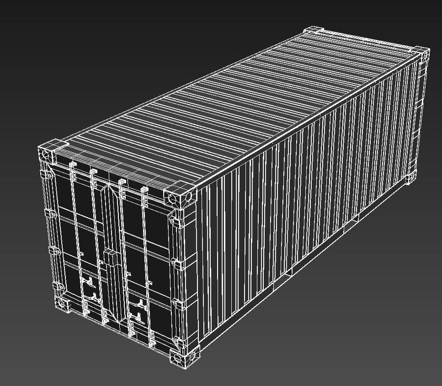 Shipping Container royalty-free 3d model - Preview no. 8