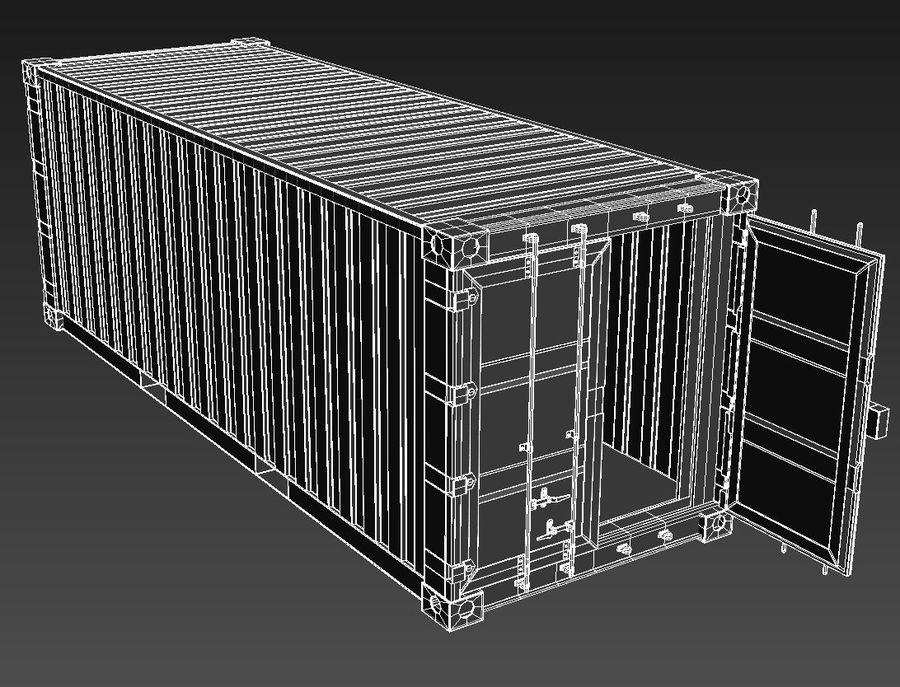 Shipping Container royalty-free 3d model - Preview no. 9