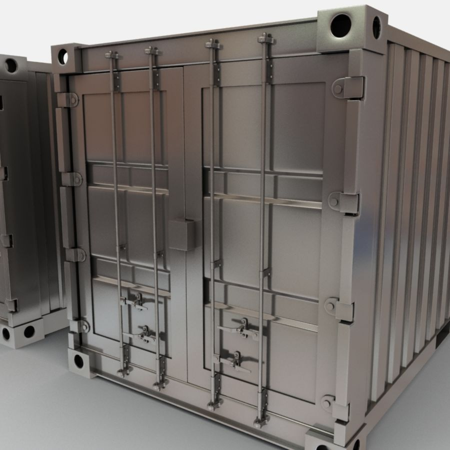 Shipping Container royalty-free 3d model - Preview no. 7