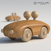 Wooden Toy Couple 3d model
