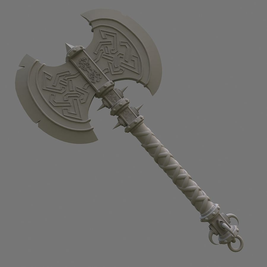 axe royalty-free 3d model - Preview no. 10