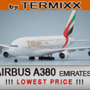 Airbus A380 Emiraten 3d model