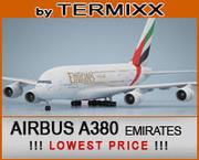 Airbus A380 Emirates 3d model