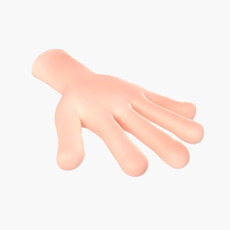 cartoon hand royalty-free 3d model - Preview no. 1