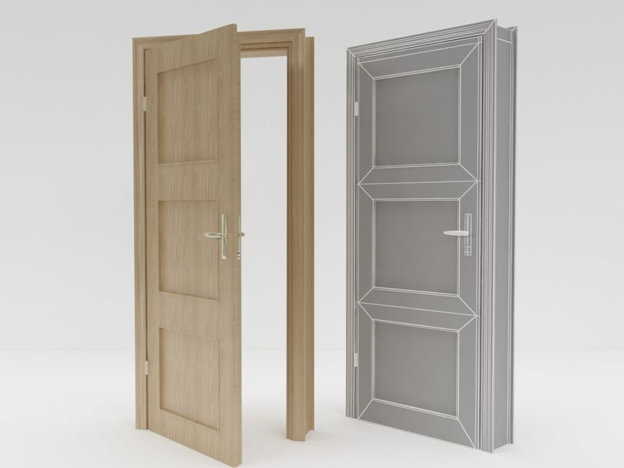 porta, arquitetura royalty-free 3d model - Preview no. 2