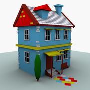 Casa de dibujos animados modelo 3d
