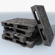 Wooden Delivery Pallets 3d model