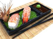 Nigiri Prawn 3d model