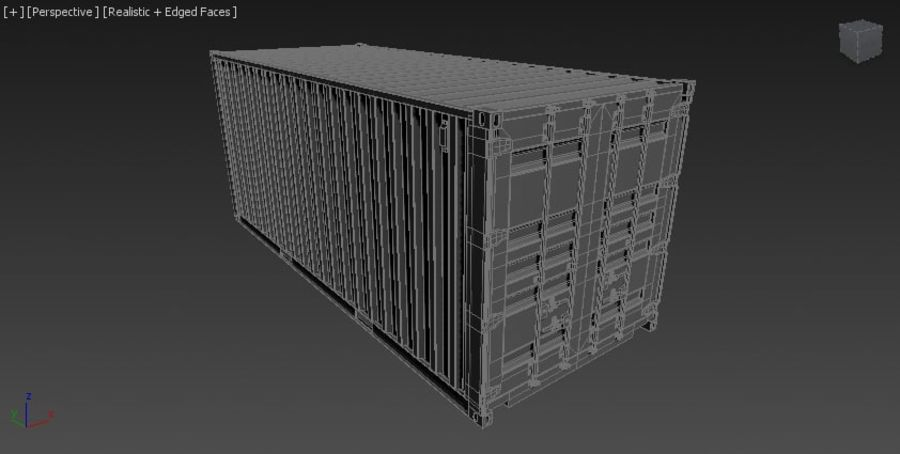 Contenitore royalty-free 3d model - Preview no. 3