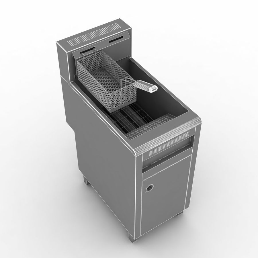 Deep Fryer royalty-free 3d model - Preview no. 7