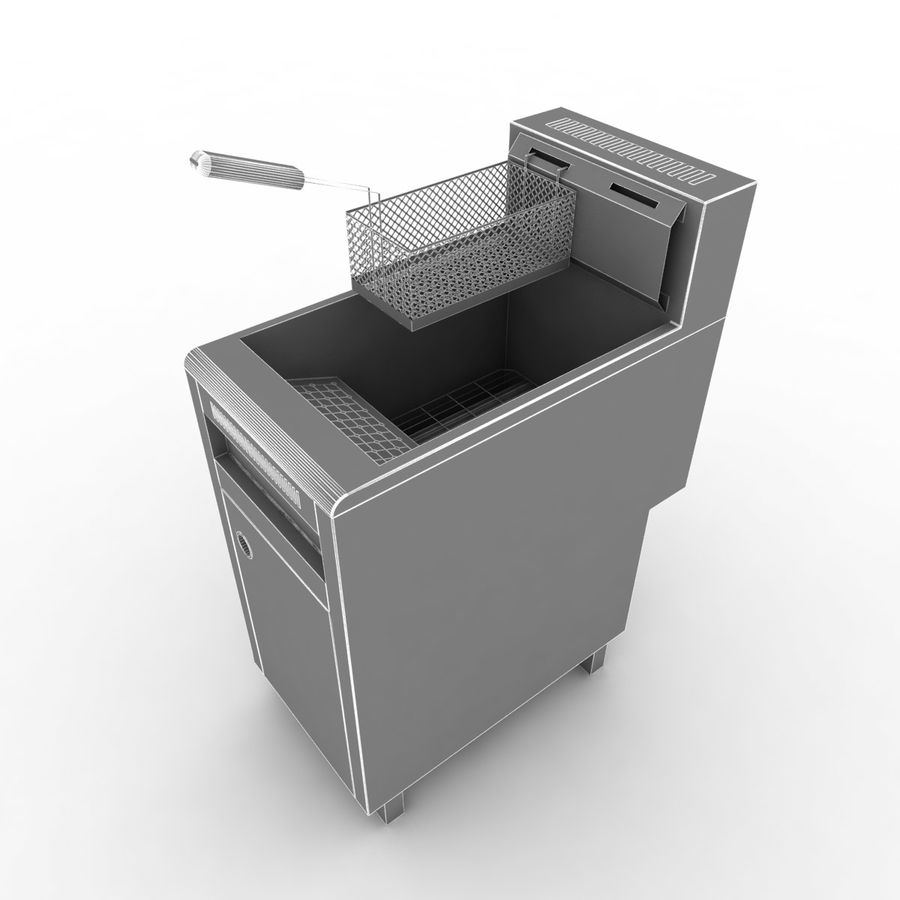 Deep Fryer royalty-free 3d model - Preview no. 8