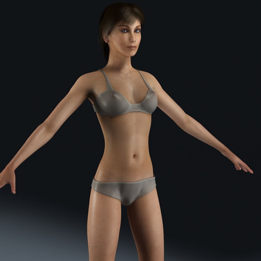 女性解剖学 royalty-free 3d model - Preview no. 1