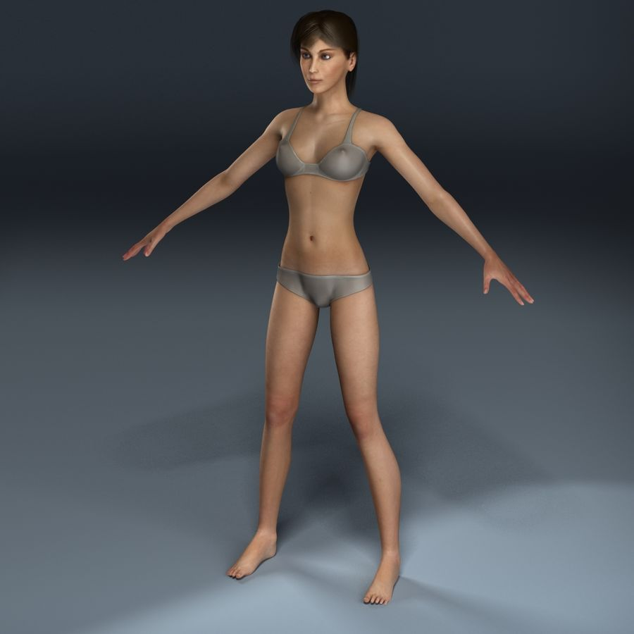女性の解剖学 royalty-free 3d model - Preview no. 3
