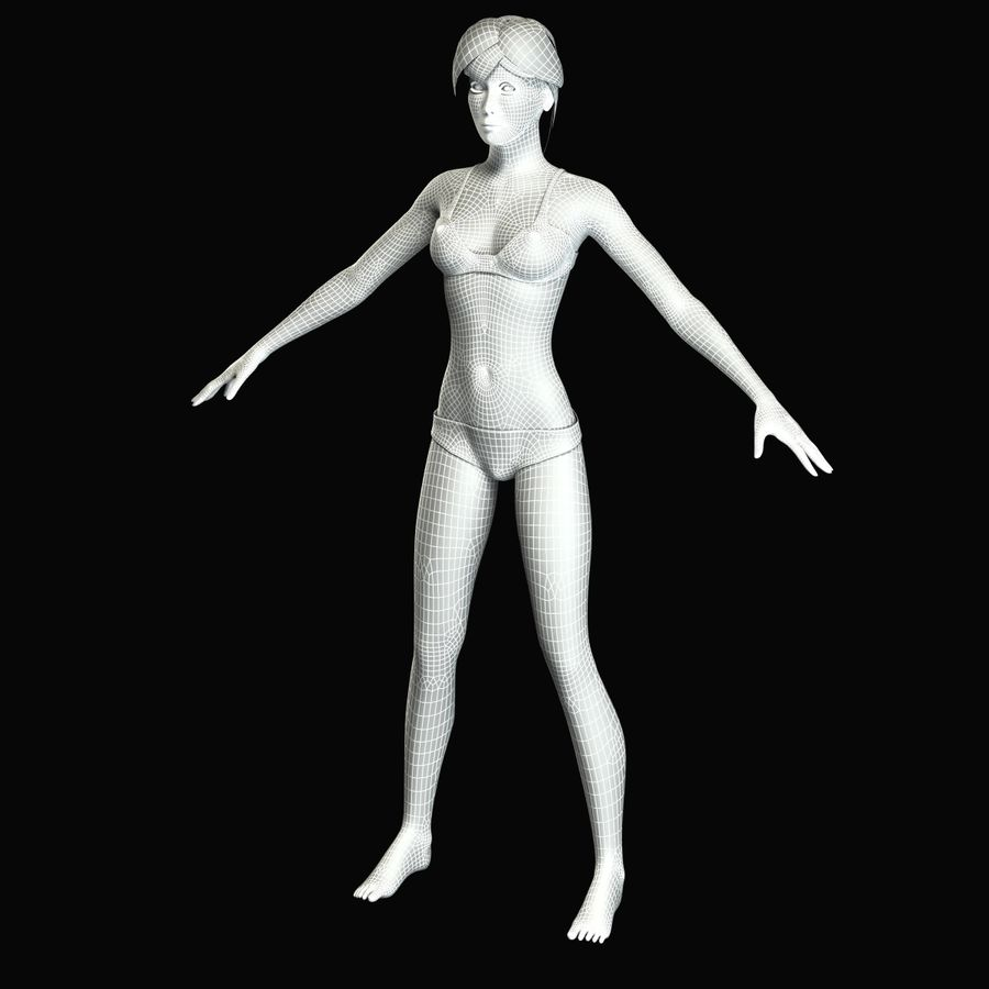 Женская анатомия royalty-free 3d model - Preview no. 18