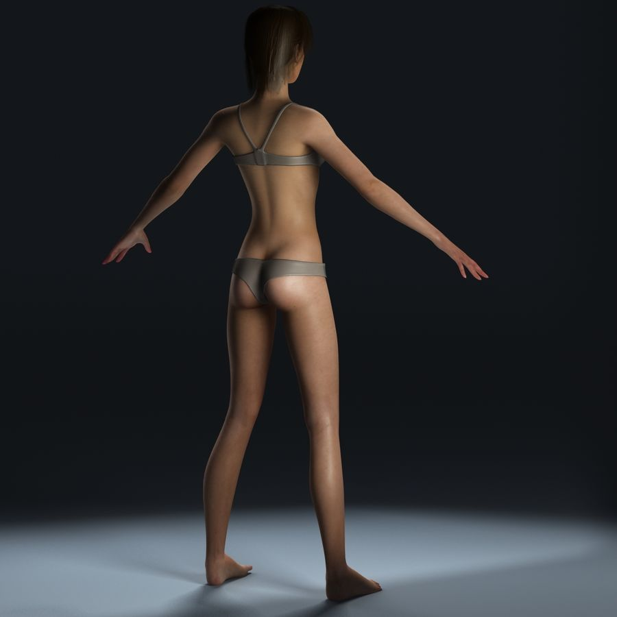 女性解剖学 royalty-free 3d model - Preview no. 6