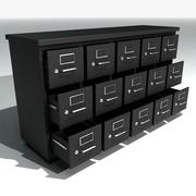 Short Metal Filing Cabinet 3d model