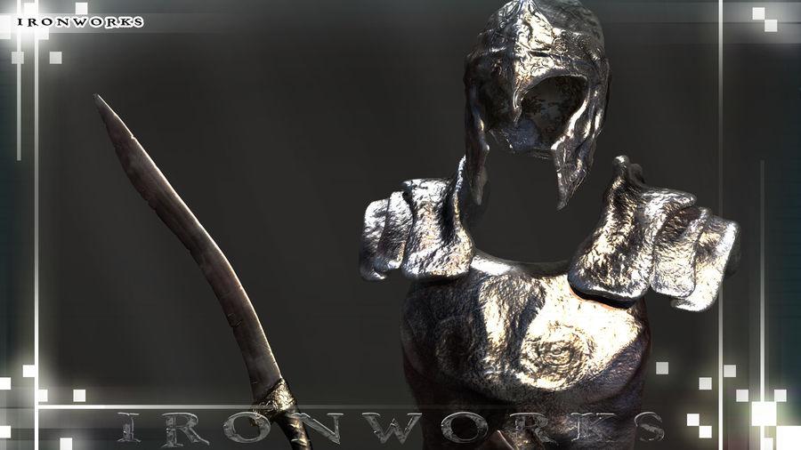 Atlantean Armor royalty-free 3d model - Preview no. 5