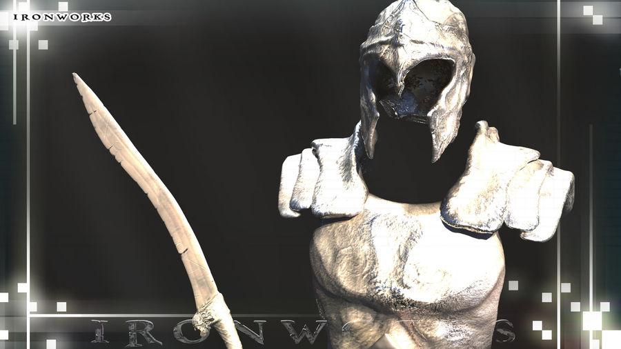 Atlantean Armor royalty-free 3d model - Preview no. 4