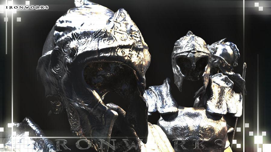 Atlantean Armor royalty-free 3d model - Preview no. 2