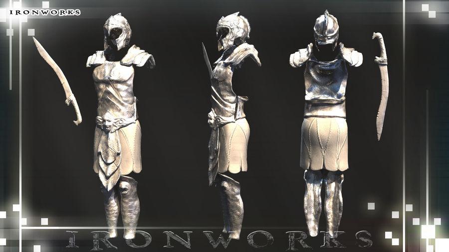 Atlantean Armor royalty-free 3d model - Preview no. 3