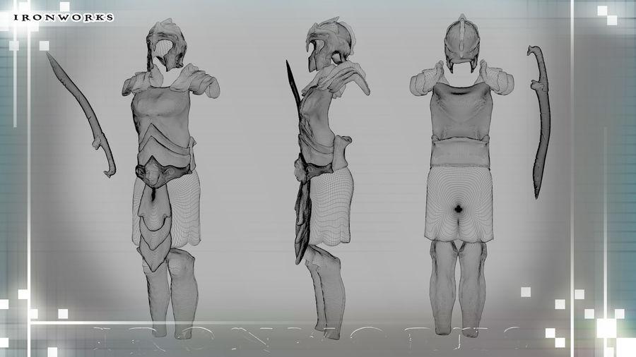 Atlantean Armor royalty-free 3d model - Preview no. 6
