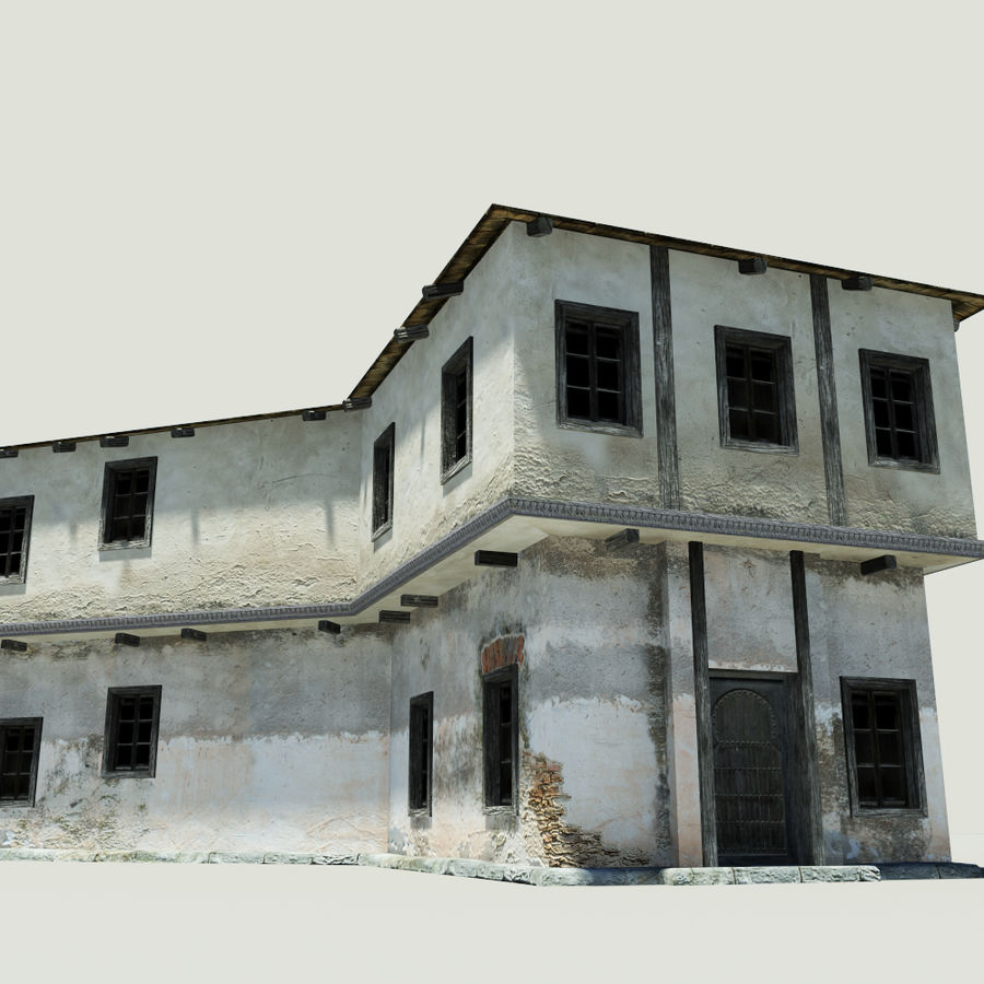 Old House royalty-free 3d model - Preview no. 3