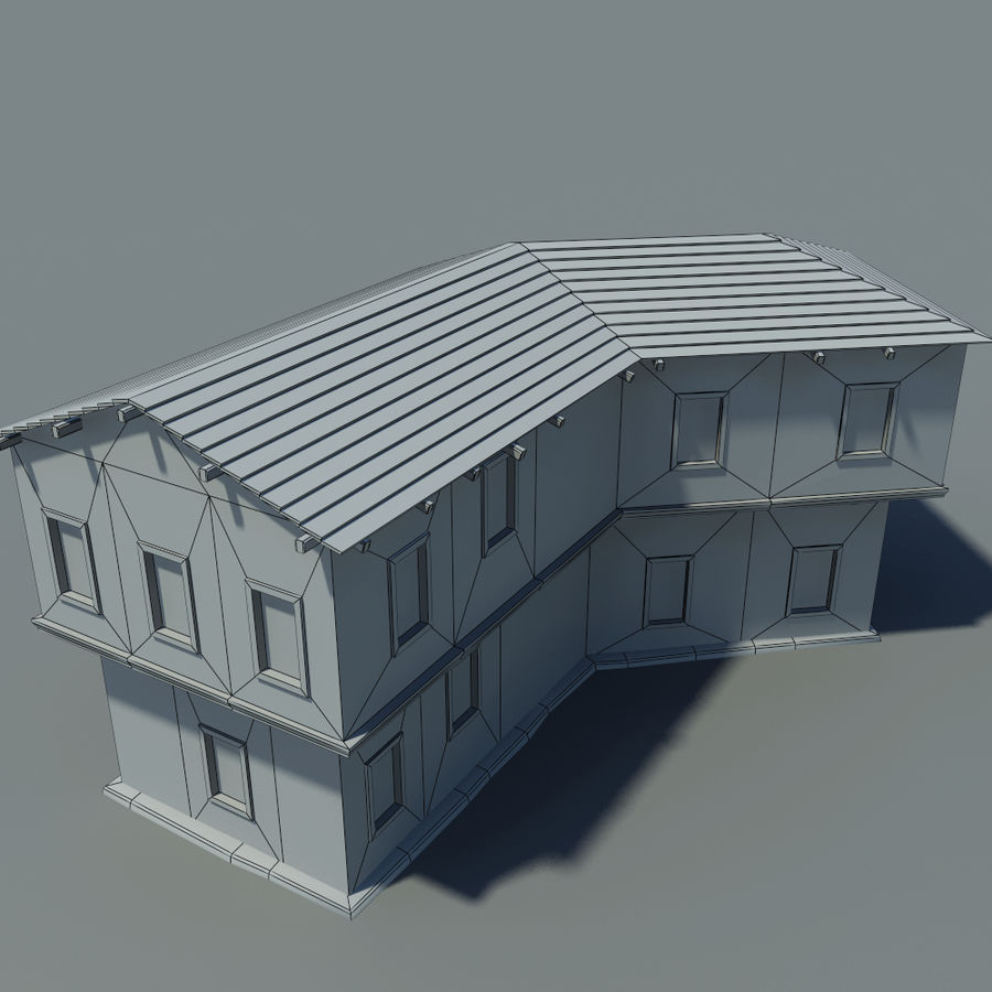 Old House royalty-free 3d model - Preview no. 8
