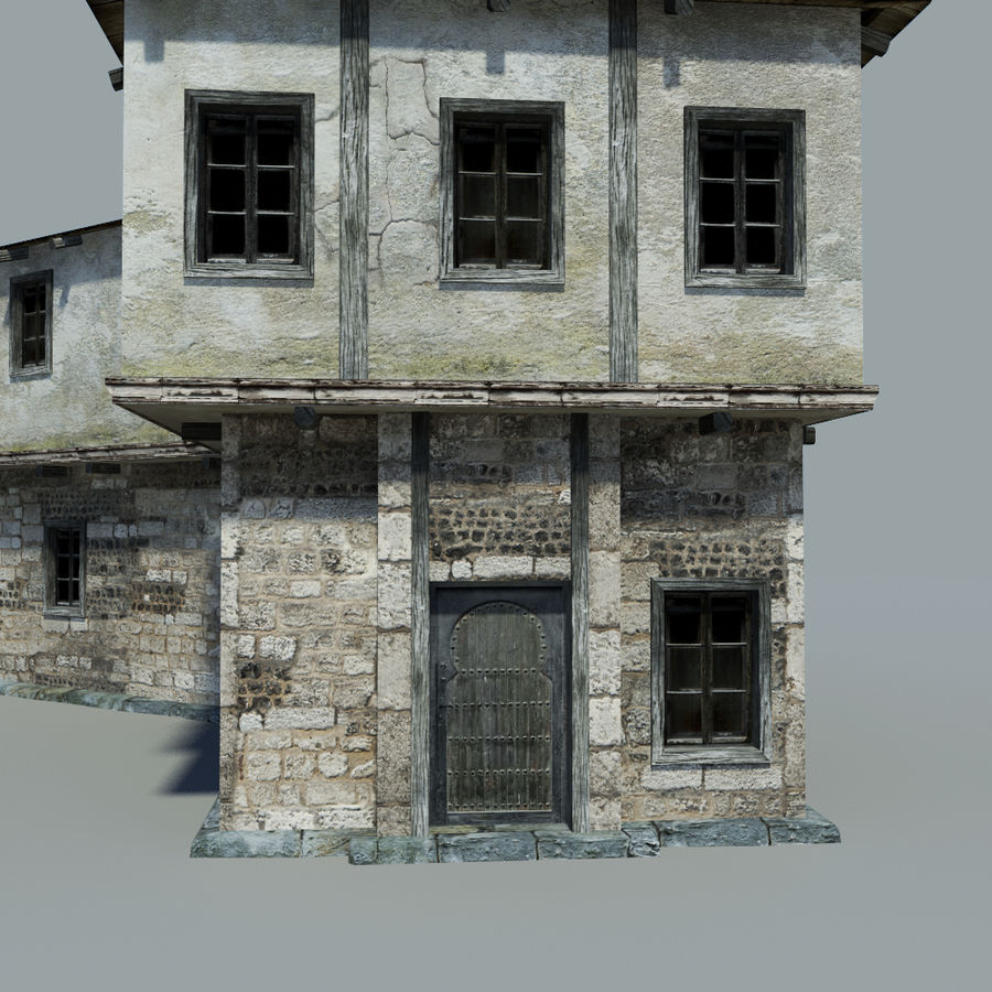 Old House royalty-free 3d model - Preview no. 4