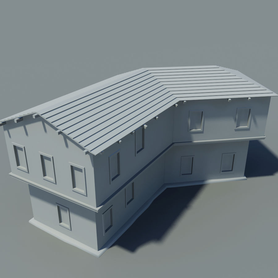 Old House royalty-free 3d model - Preview no. 7