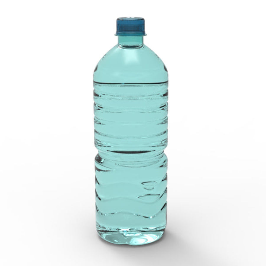 Water bottle royalty-free 3d model - Preview no. 9