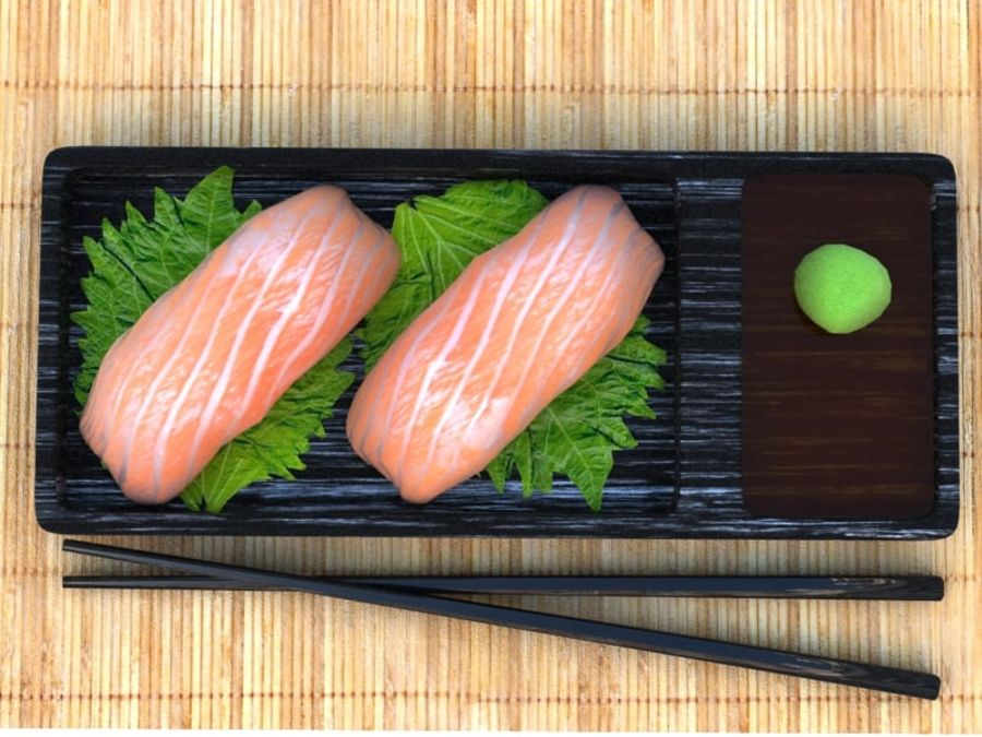 Salmone Nigiri royalty-free 3d model - Preview no. 3