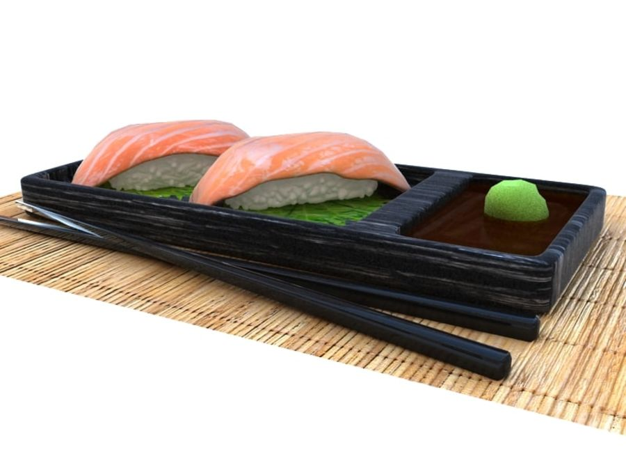 Salmone Nigiri royalty-free 3d model - Preview no. 5