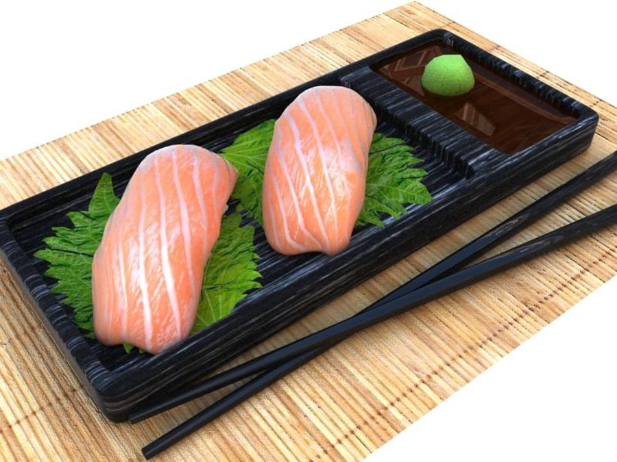 Salmone Nigiri royalty-free 3d model - Preview no. 1
