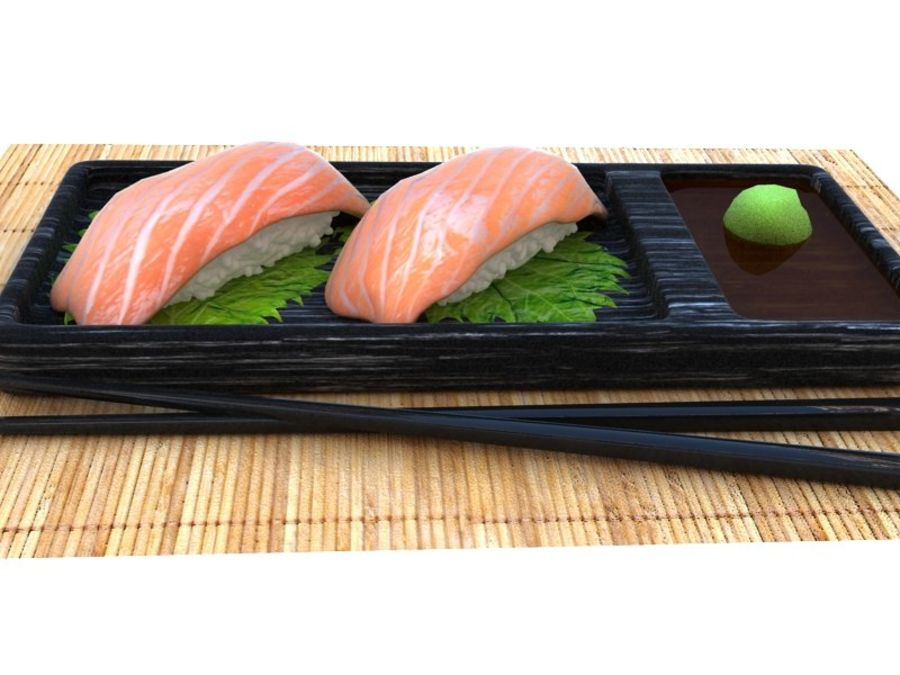 Salmone Nigiri royalty-free 3d model - Preview no. 2