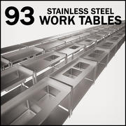 Mesa de trabajo de acero inoxidable modelo 3d