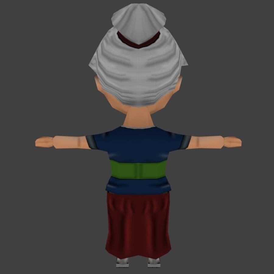 Chibi Oldwoman royalty-free 3d model - Preview no. 4
