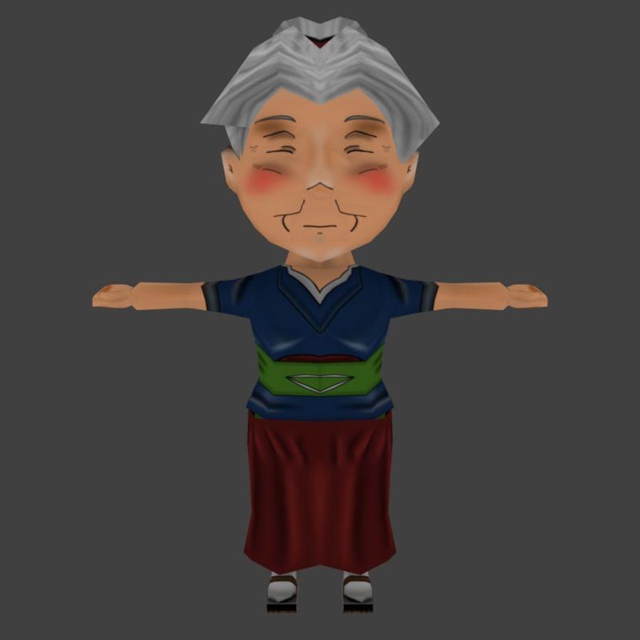 Chibi Oldwoman royalty-free 3d model - Preview no. 2