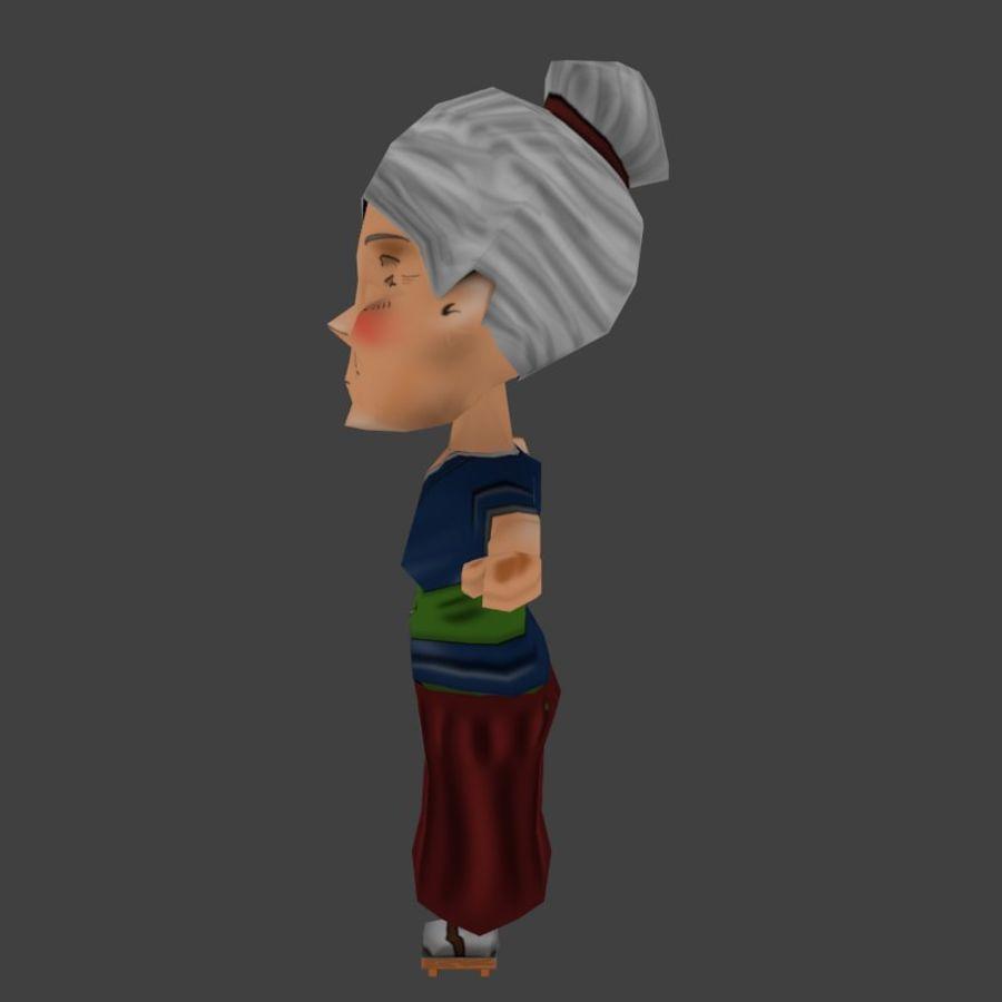 Chibi Oldwoman royalty-free 3d model - Preview no. 3