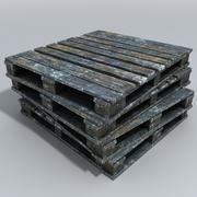 Palette de livraison en bois 3d model